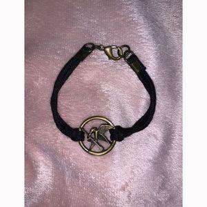 Hunger Games Mockingjay Black Clasp Bracelet OS